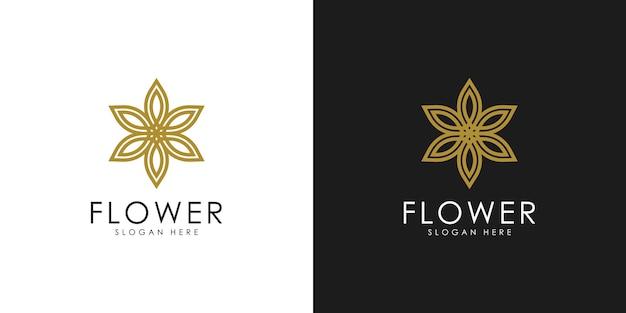 Logo astratto fiore elegante