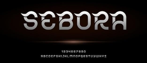 Alfabeto moderno elegante astratto con modello di stile urbano