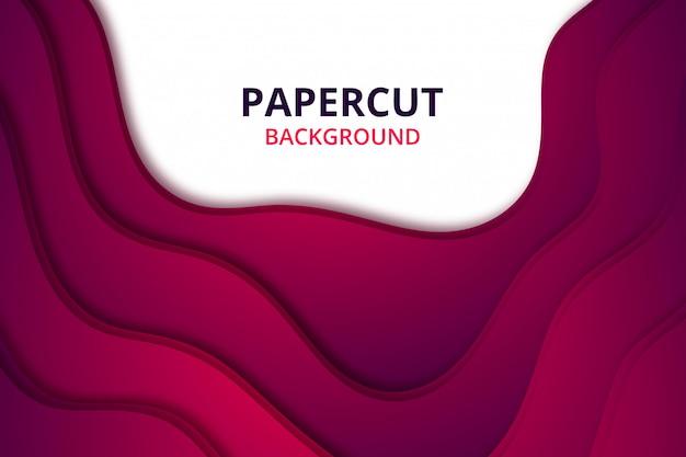 Carta da parati elegante astratta del fondo del papercut. modello di sfondo in vivace colore rosso