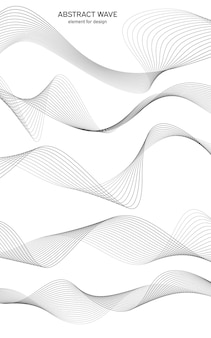 Onda astratta dell'elemento per il design