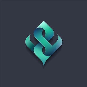 Emblema astratto, concetto, logo, ecologia del logotipo, natura, elemento dell'ambiente.