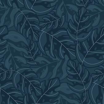 Modello senza cuciture astratto pianta esotica