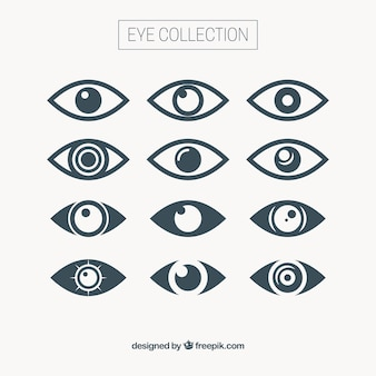 Raccolta occhio astratto