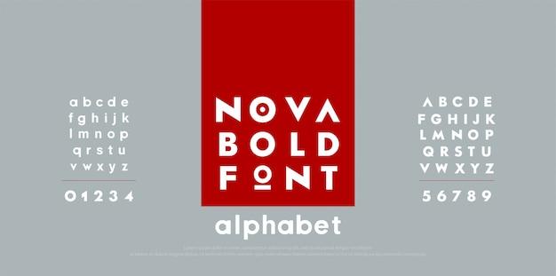 Font di alfabeto moderno moda astratta.