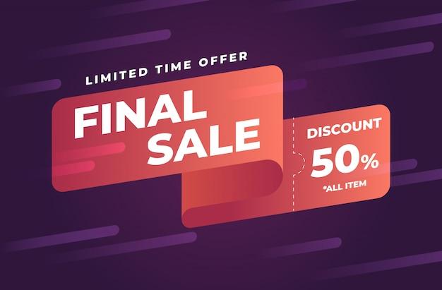 Banner di promozione vendita finale astratta