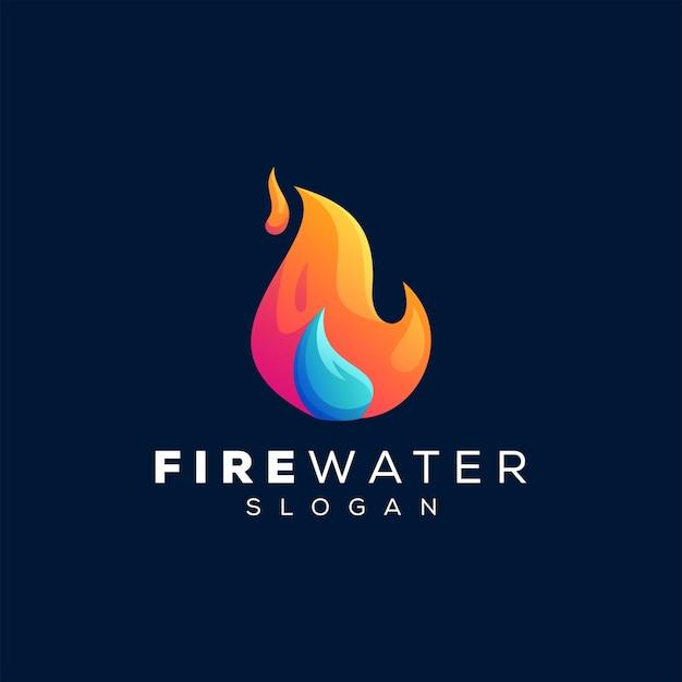 Fiamma astratta gradiente logo design