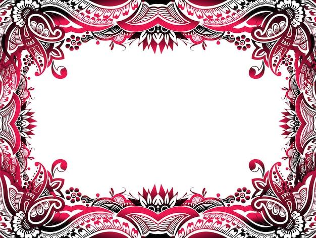 Sfondo astratto bordo floreale facile da modificare del tuo progetto, illustrazione vettoriale