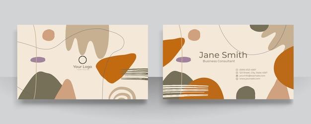 Fondo organico floreale astratto di forme per il biglietto da visita. illustrazione vettoriale disegnata a mano moderna contemporanea.