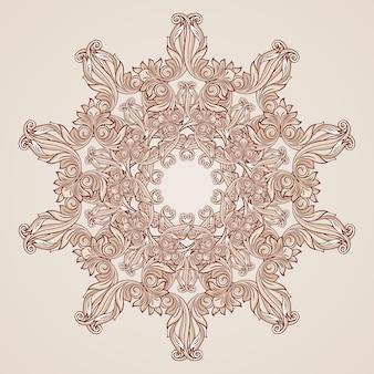 Motivo floreale astratto nei colori rosa pastello rosa