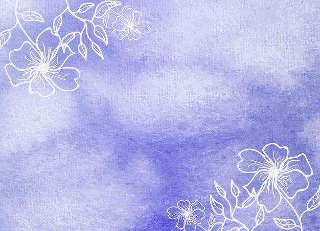 Acquerello floreale astratto pennello ombreggiatura texture di sfondo
