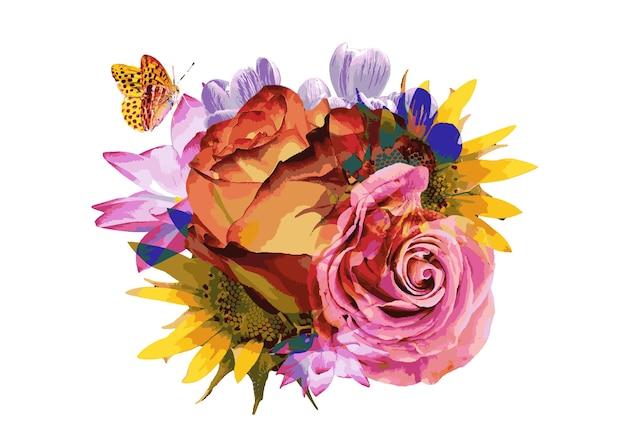 Arte astratta dei fiori