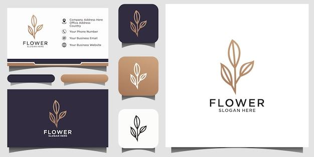 Logo astratto di bellezza del fiore simbolo creativo universale. segno di vettore grazioso boutique gioiello