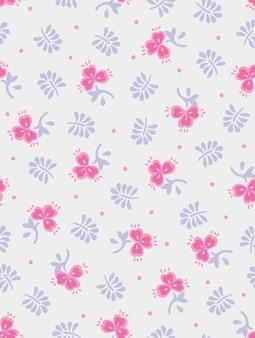 Stampa astratta del modello di moda del fiore