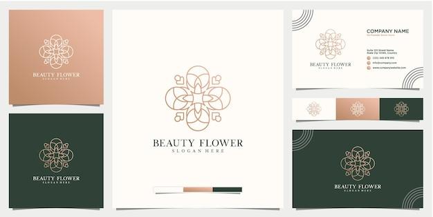 Modello di progettazione del logo del fiore astratto