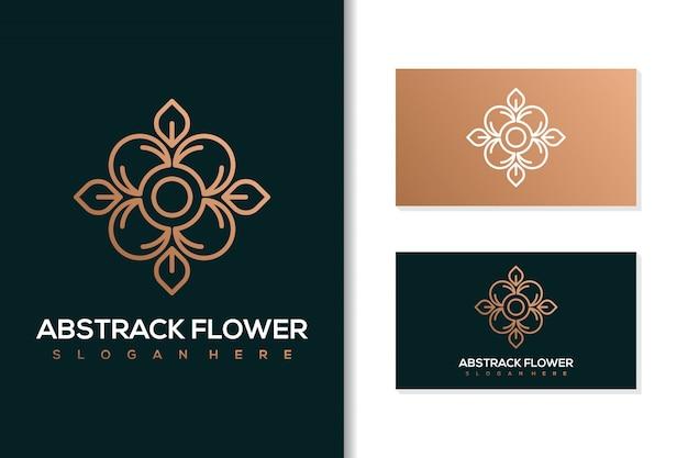 Disegno di marchio del fiore astratto