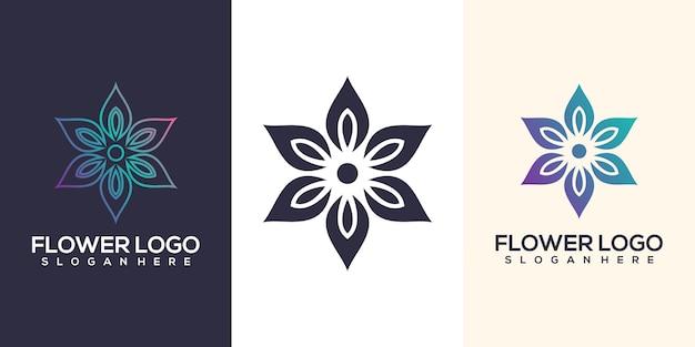 Logo design fiore astratto