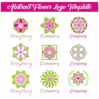 Modello di logo del fiore astratto Vettore Premium