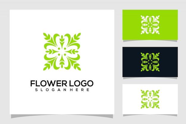 Logo fiore astratto