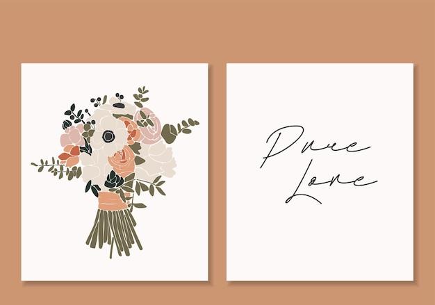 Illustrazione di fiori astratti per il giorno di san valentino