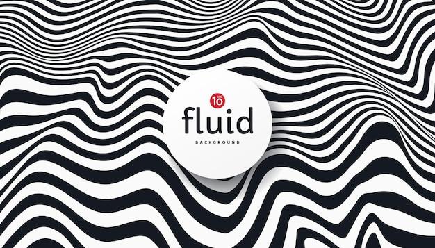 Strisce fluide astratte linee di sfondo a contrasto bianco e nero
