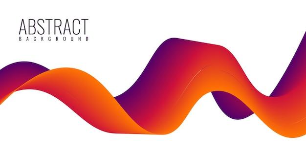 Disegno del modello di sfondo dinamico fluido astratto