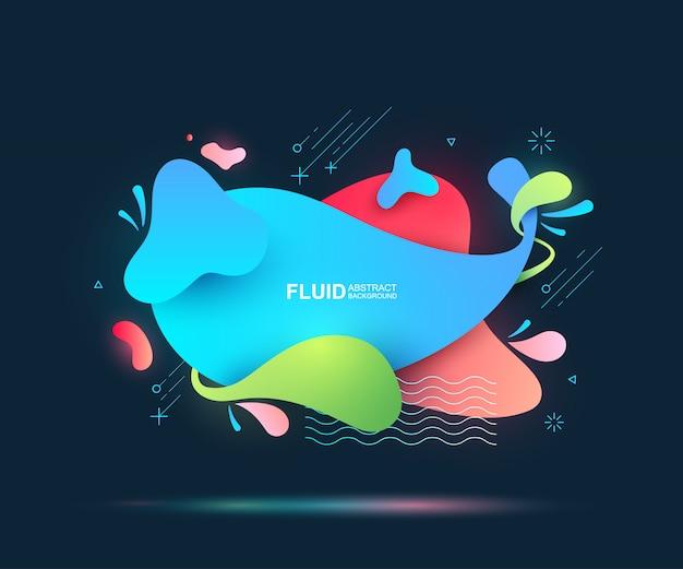 Elementi astratti fluidi e moderni. forme e linee colorate dinamiche.