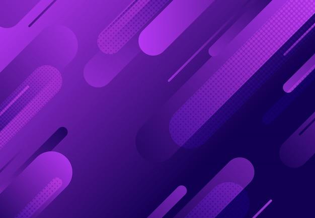 Modello astratto fluido linea ondulata di sfondo viola gradiente decorazione.