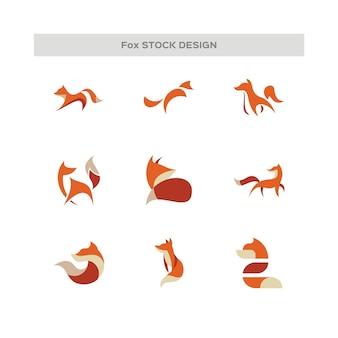 Logo della volpe astratta