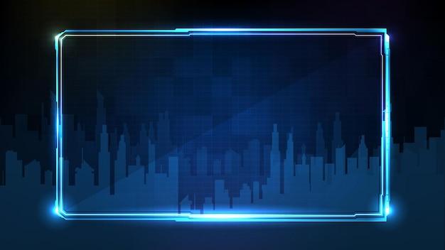 Fondo futuristico astratto della struttura d'ardore blu di sci fi di tecnologia hud ui