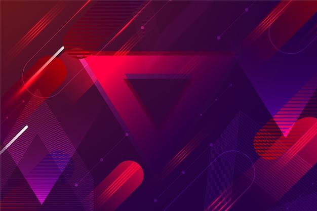 Astratto sfondo futuristico con linee rosse