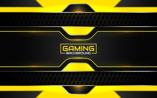Fondo nero e giallo futuristico astratto di gioco