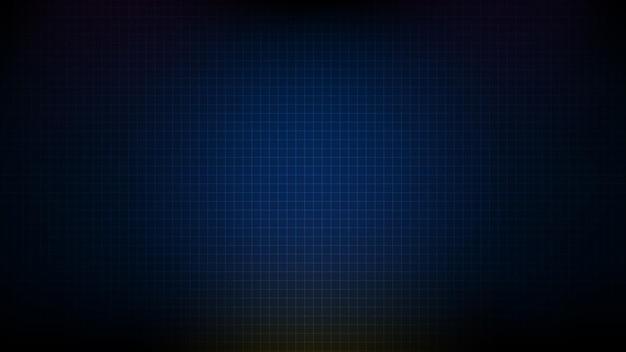 Abstract futuristico sfondo blu incandescente rete dati di rete stile di tecnologia del sistema