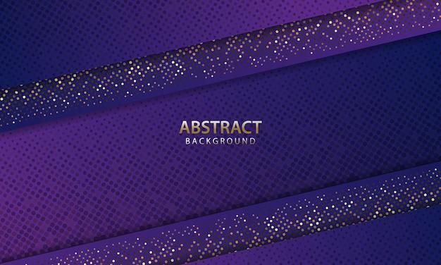 Fondo blu scuro futuristico astratto con glitter. sfondo 3d. illustrazione vettoriale realistico.