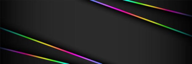 Sfondo astratto futuristico scuro e luce rgb del gioco