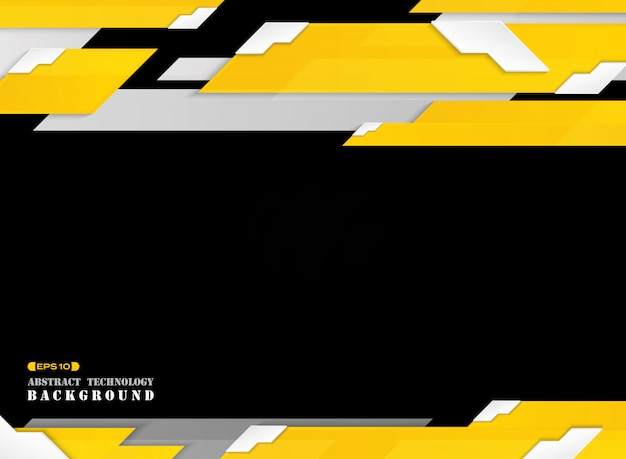 Abstract del futuristico gradiente linea gialla striscia modello