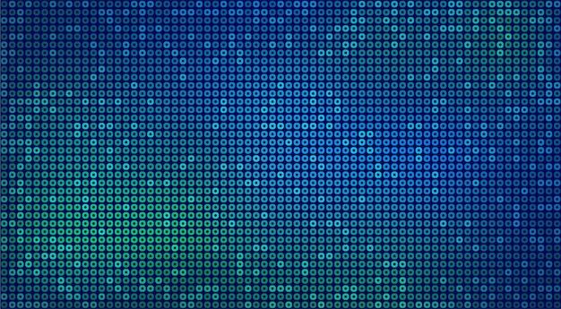 Astratto sfondo al neon futuristico con cerchi blu e verdi. sfondo vettoriale per il design del concetto di tecnologia digitale, carta da parati.