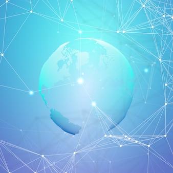 La rete futuristica astratta modella il fondo