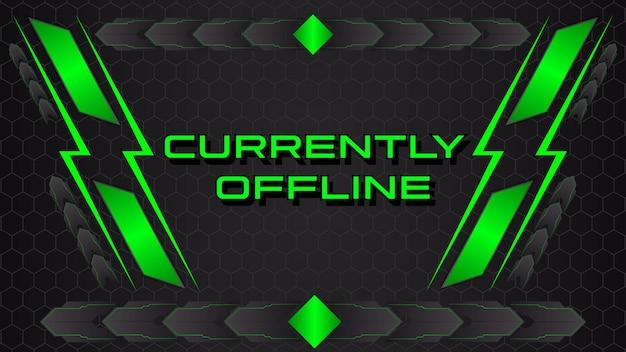 Modello di banner di contrazione offline banner di gioco astratto vettore premium