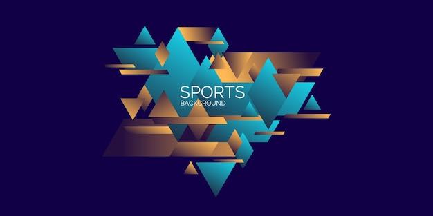 Poster sportivo con sfondo geometrico astratto con figure geometriche
