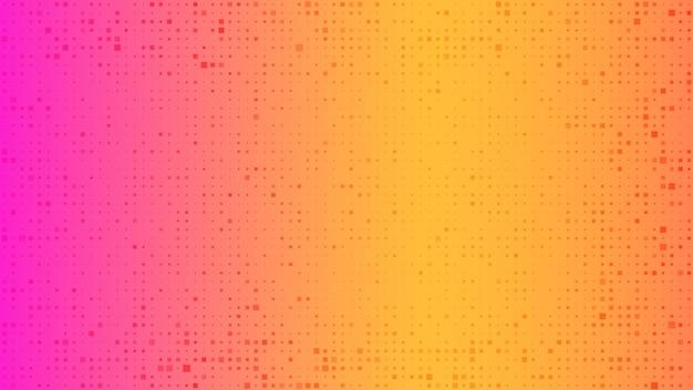 Fondo geometrico astratto dei quadrati. priorità bassa arancione del pixel con spazio vuoto. illustrazione vettoriale.