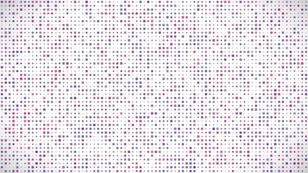Fondo geometrico astratto dei quadrati. sfondo pixel viola con spazio vuoto. illustrazione vettoriale.