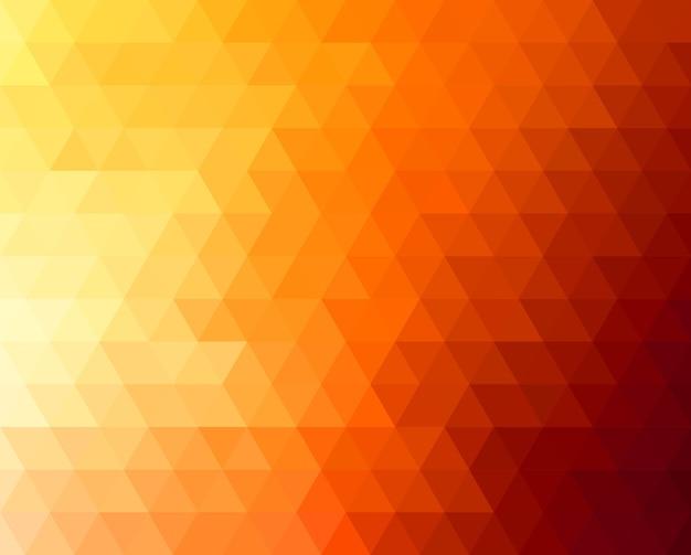 Fondo geometrico astratto con triangoli arancioni e gialli. . design soleggiato estivo