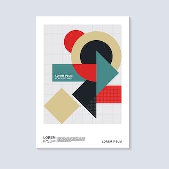 Disegno geometrico astratto della copertina del libro