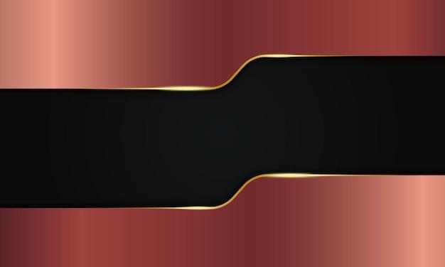 Bronzo geometrico astratto con bagliore dorato lucido su sfondo nero. design per la tua rivista.