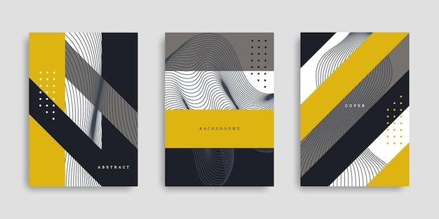 Set di copertine aziendali geometriche astratte