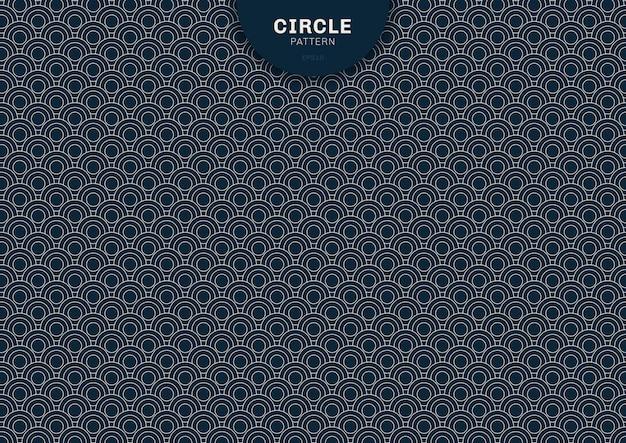 Cerchio geometrico astratto sfondo blu