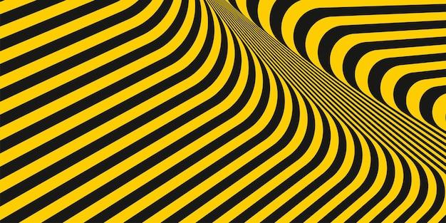 Linee a strisce diagonali gialle e nere geometriche astratte in stile texture