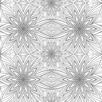 Modello senza cuciture floreale geometrico astratto in grigio