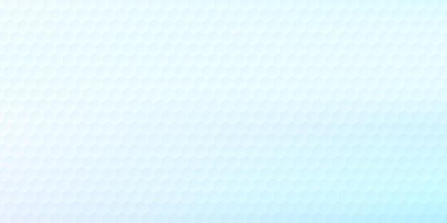 Modello esagonale geometrico astratto su sfondo ologramma sfocato bianco e blu