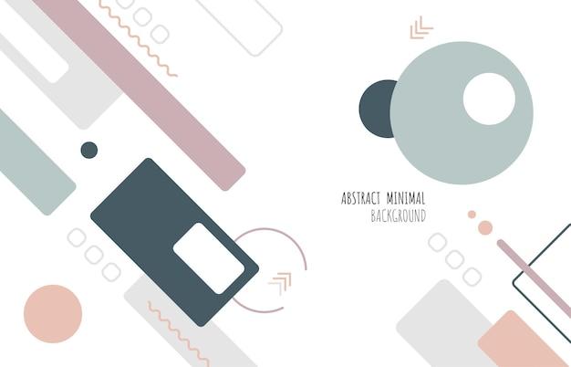 Design minimale geometrico astratto del tono di colore morbido in stile copertina. decorare con lo spazio della copia per lo sfondo del design di sms. illustrazione vettoriale